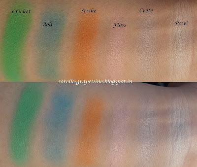 Sleek Makeup i-Divine Ultra Mattes V1 Brights Palette swatch