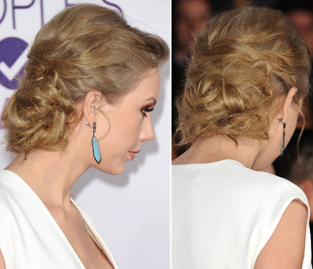 Taylor Swift Pinned Updo Red Carpet Hairstyle 2013 Krazy Fashion