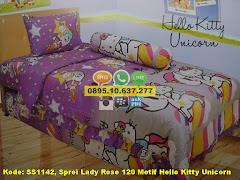 Harga Sprei Lady Rose 120 Motif Hello Kitty Unicorn Jual