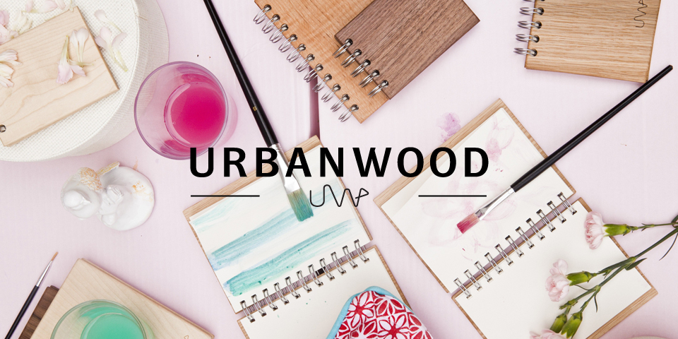 UrbanWood zapisniky / notebooks - designinwhite