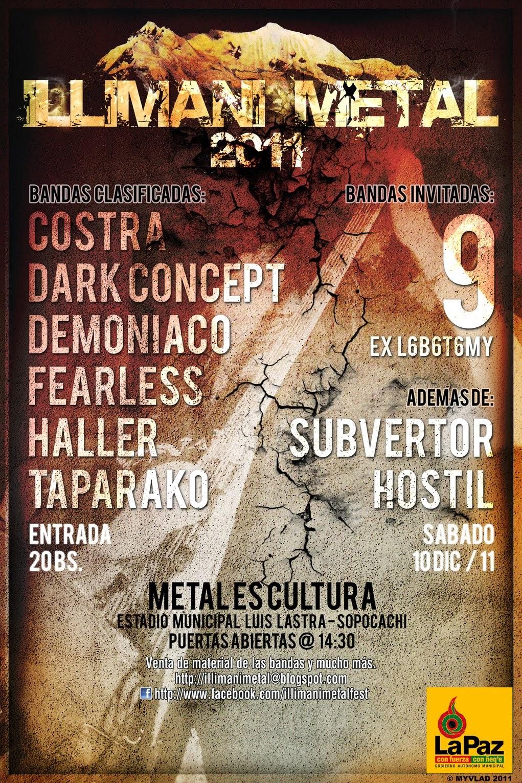 Afiche Illimani Metal 2011