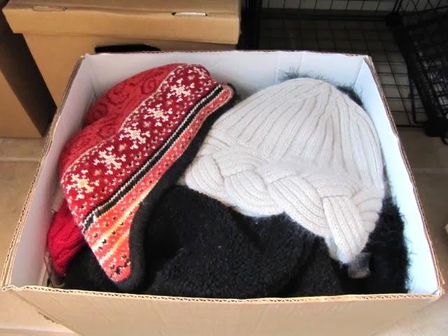 organized winter coat closet