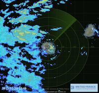 Image radar ile Réunion / Maurice