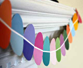 Paint Chip Easter Egg Garland Tutorial by Tricia @ SweeterThanSweets