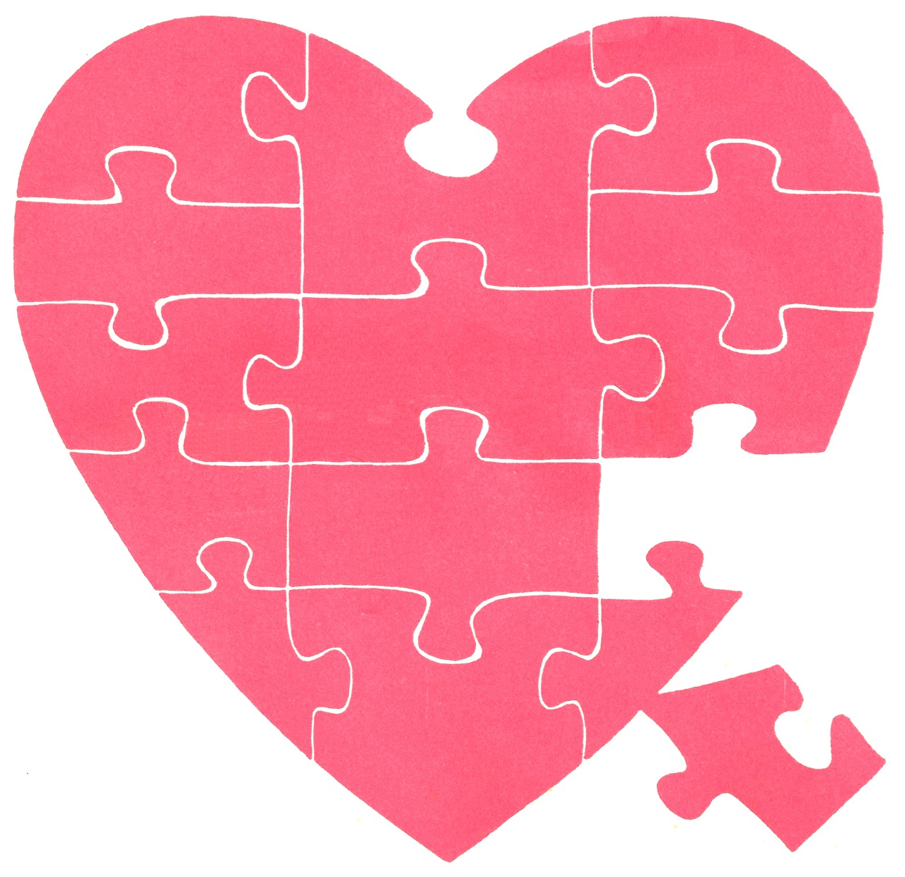 Vintage Jigsaw Puzzle Heart | It's my cake