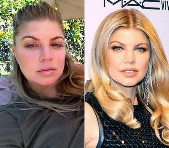 10 Celebridades Antes e Depois da maquiagem