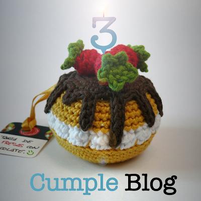 tarta amigurumi 3º cumple blog
