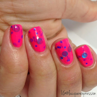 swatch of all babe watch nail polish from the life's a beach collection from delush polish