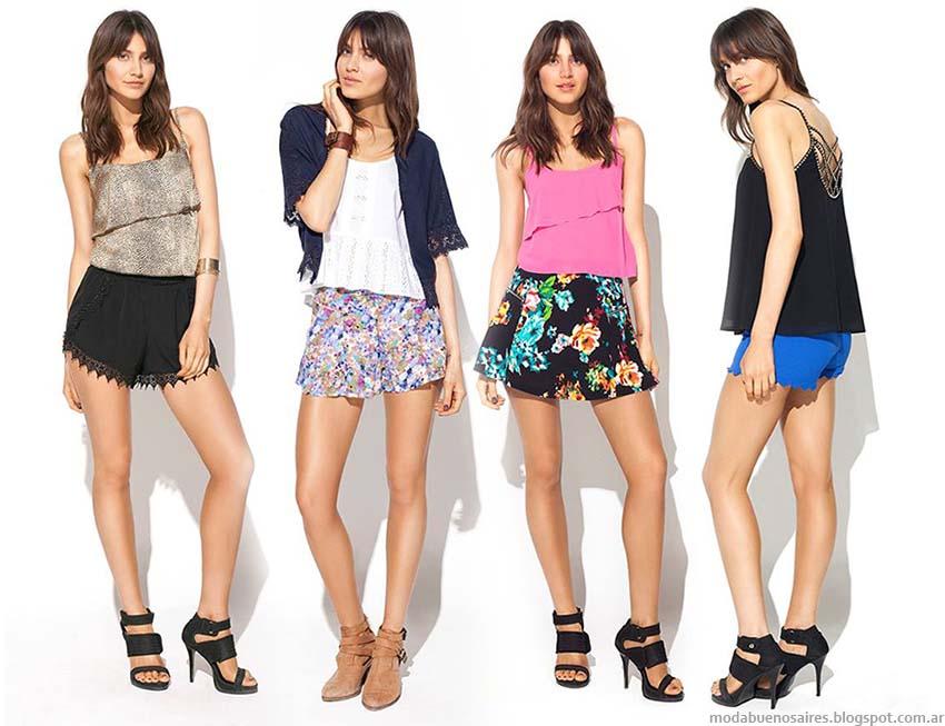 Shorts y mini faldas primavera verano 2015. Mab verano 2015 moda.