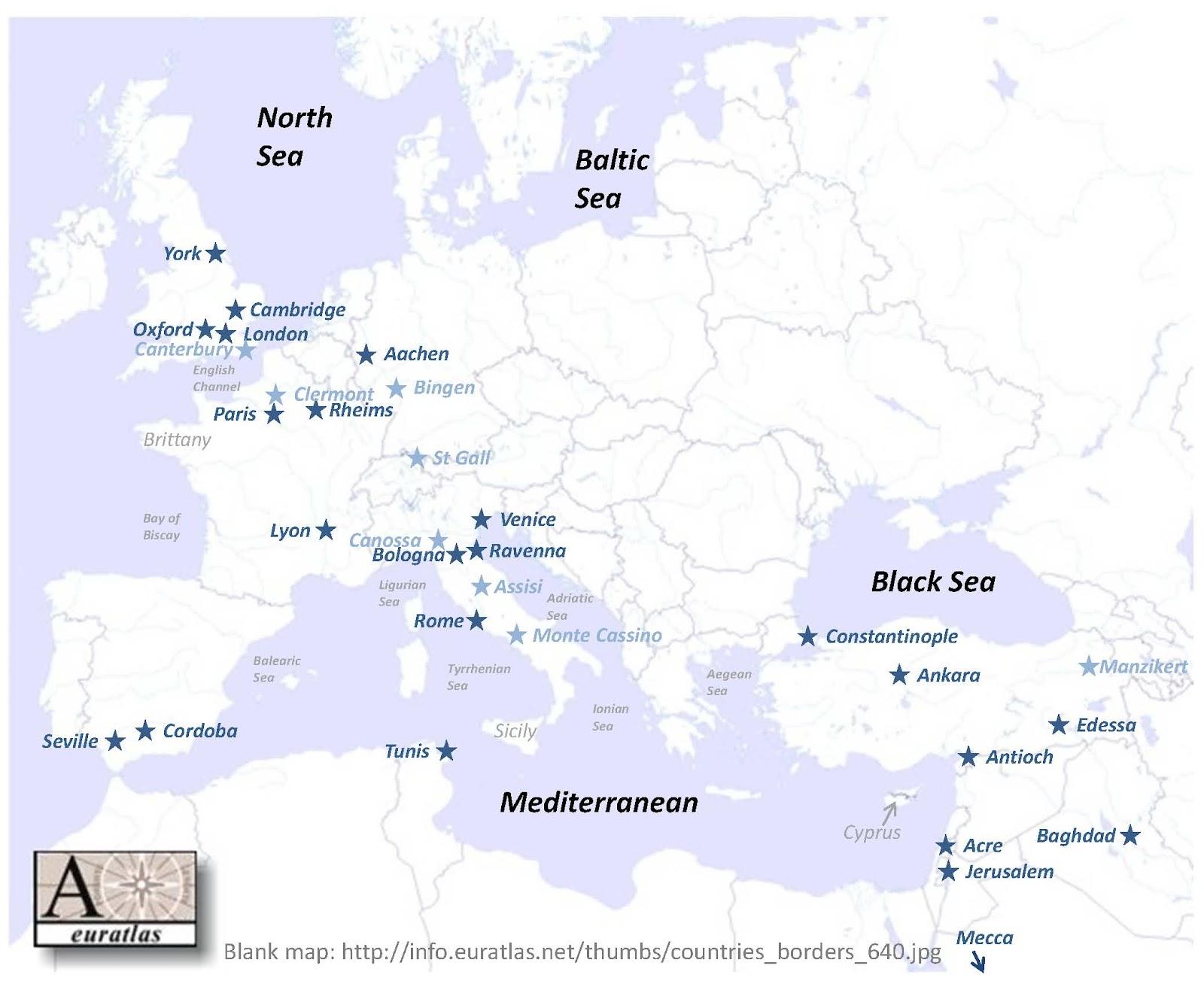 Medieval Europe Map - #traffic-club