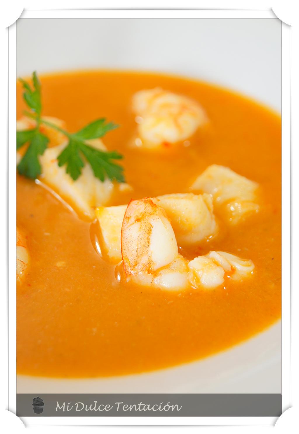 Mi dulce tentaci n sopa de marisco y pescado - Sopa de marisco y pescado ...