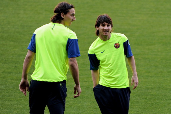 Zlatan Ibrahimović played alongside Lionel Messi during his brief spell at Barcelona