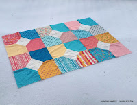 Layers of Charm quilt top in the snow free pattern