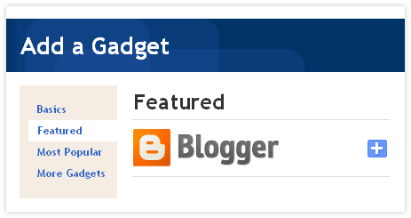 Featured Gadget on Blogger.com