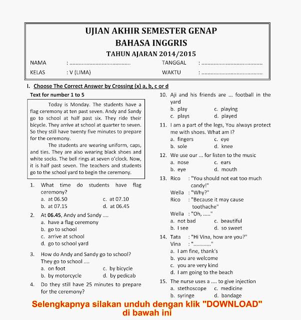 Soal Sd Kelas 5 Kelas I Sd Bahasa Indonesia H Suyatno Soal Matematika Sd Kelas 6 Maton1802