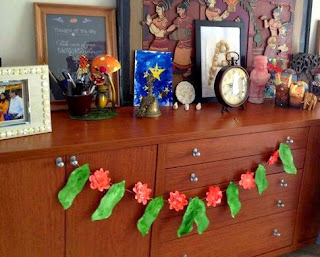 Paper Flowers Garland Craft For Kids