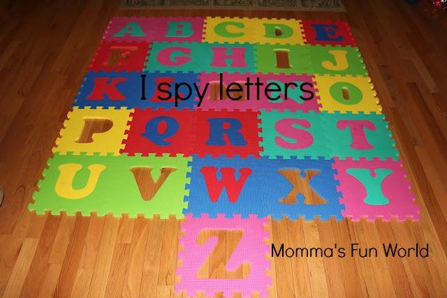 Momma S Fun World I Spy Letter