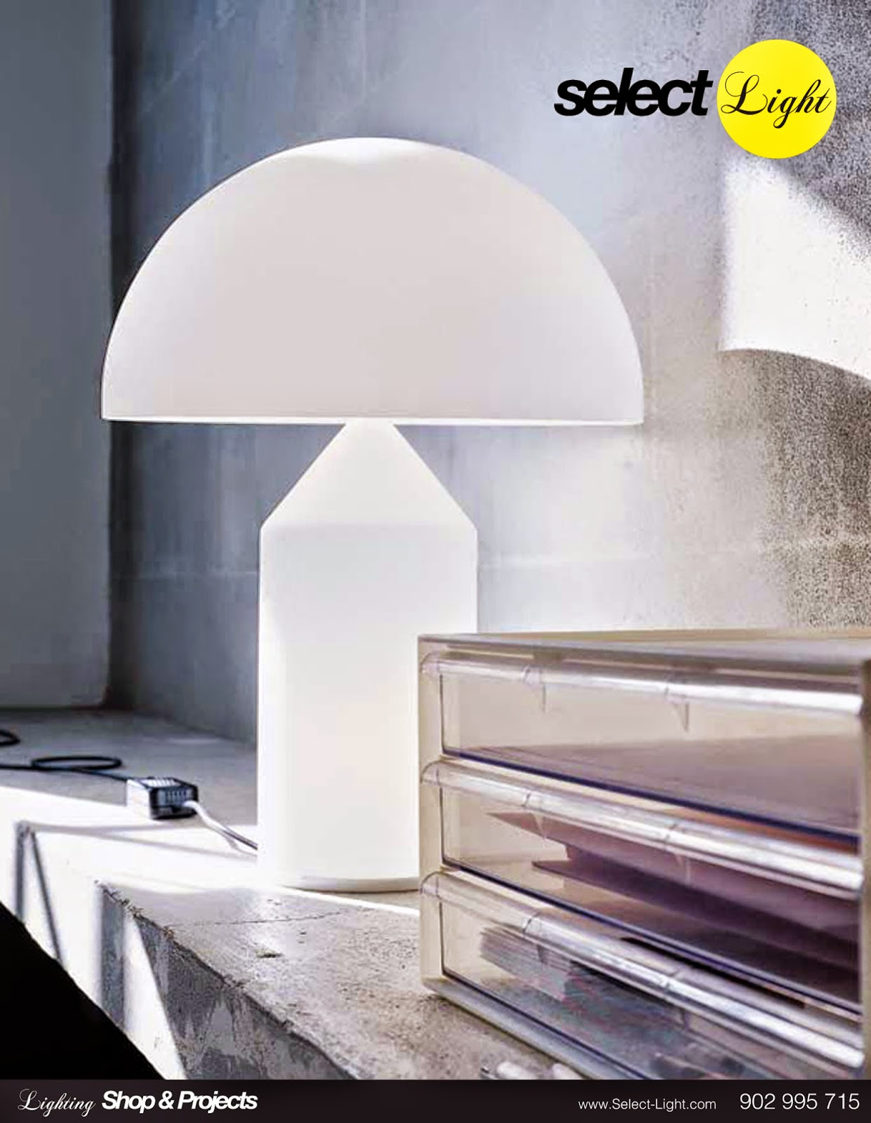 Lámpara de mesa Atollo de Oluce