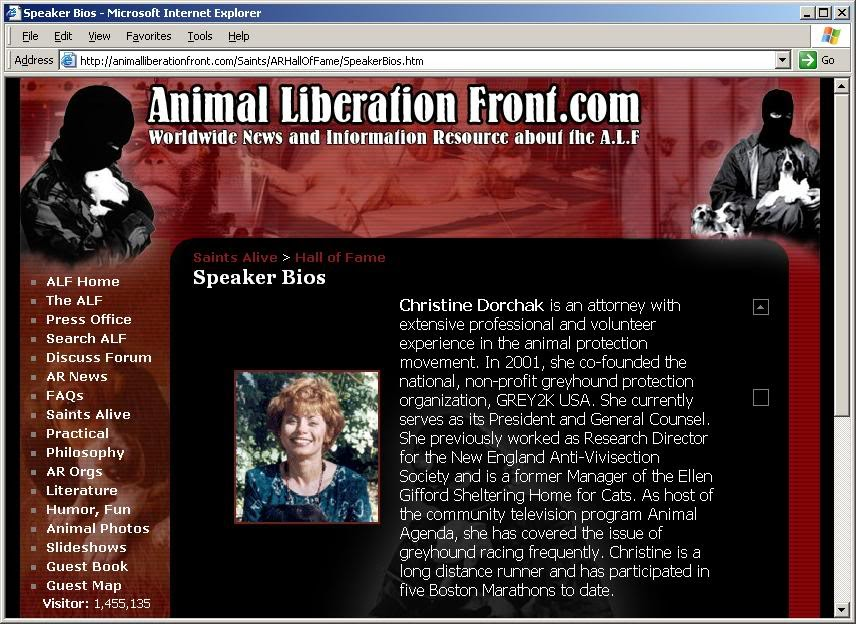 a description of the animal liberation front on domestic terrorists Policeonecom is the leading online resource for the law enforcement community.