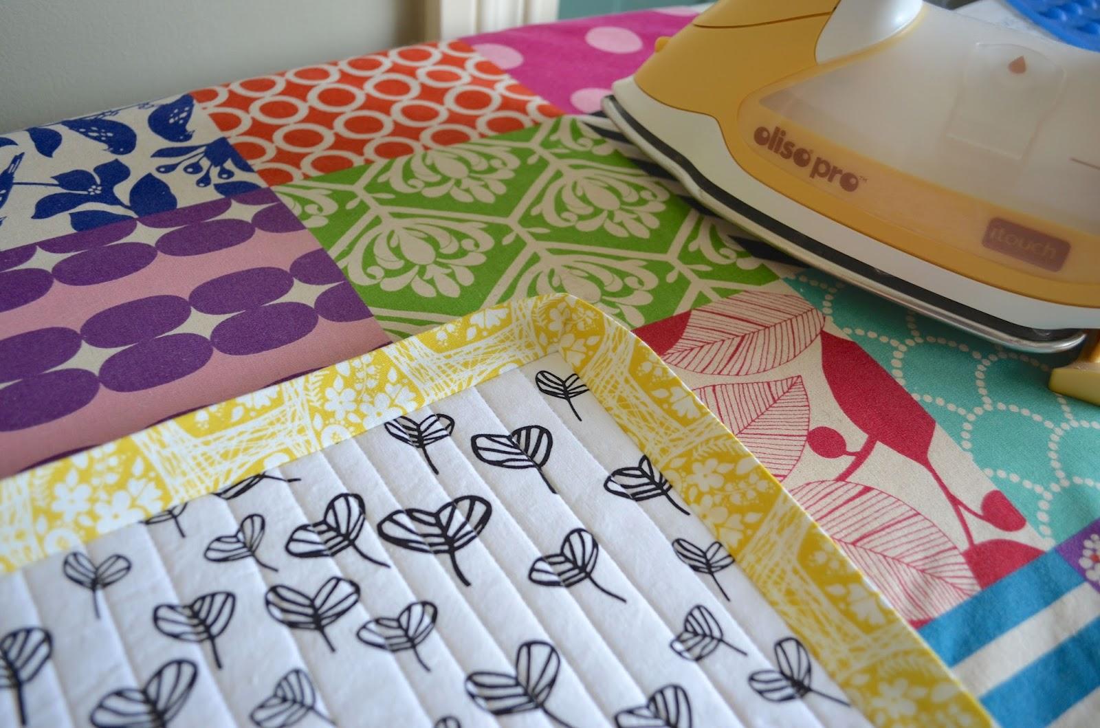machine stitched quilt binding