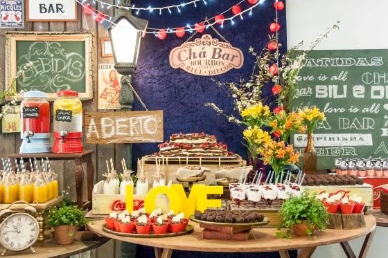 decoracao boteco noivado:Oficina Chic: Chá Bar