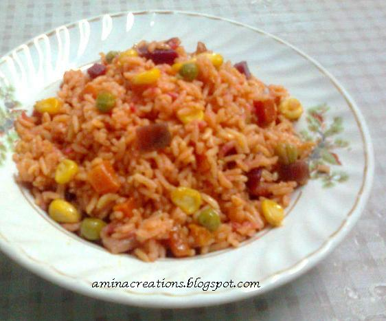 Corn vegetable rice