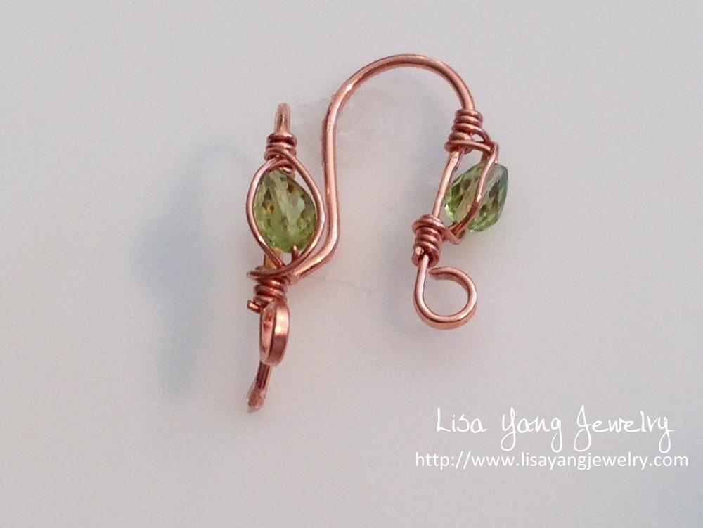 Lisa Yang\'s Jewelry Blog: Custom Garnet and Peridot Gemstone Earwires