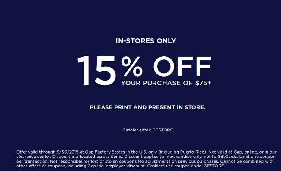 Gap Outlet Coupon Code – Coupons and Freebies