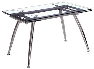 Mesa cocina metalica cristal