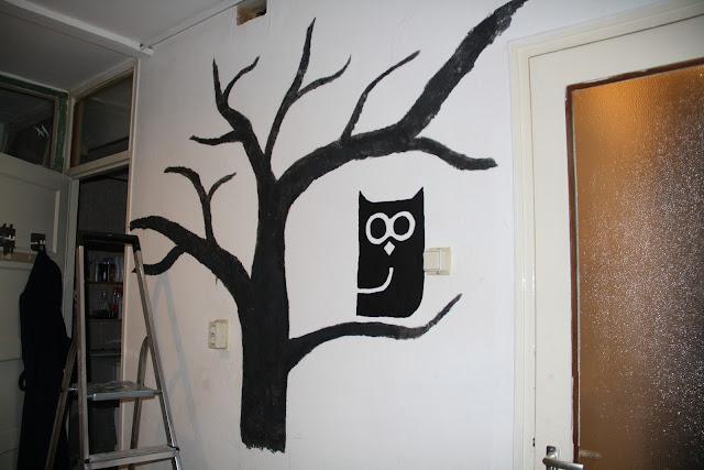 Marieke bakt januari 2012 - Grijs muurschildering ...