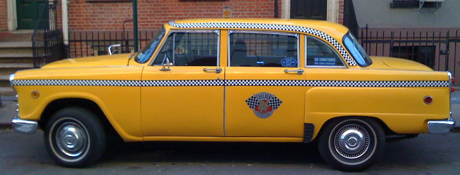 Earl johnson an independent taxi cab owner operated janie ny plate 1n11 it was the last checker in regular service in nyc shortly after