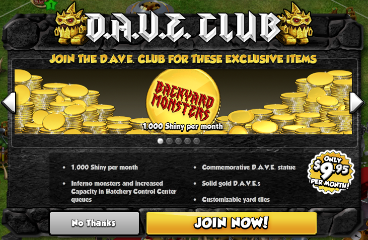 The D A V E Club The Backyard Monsters Blog