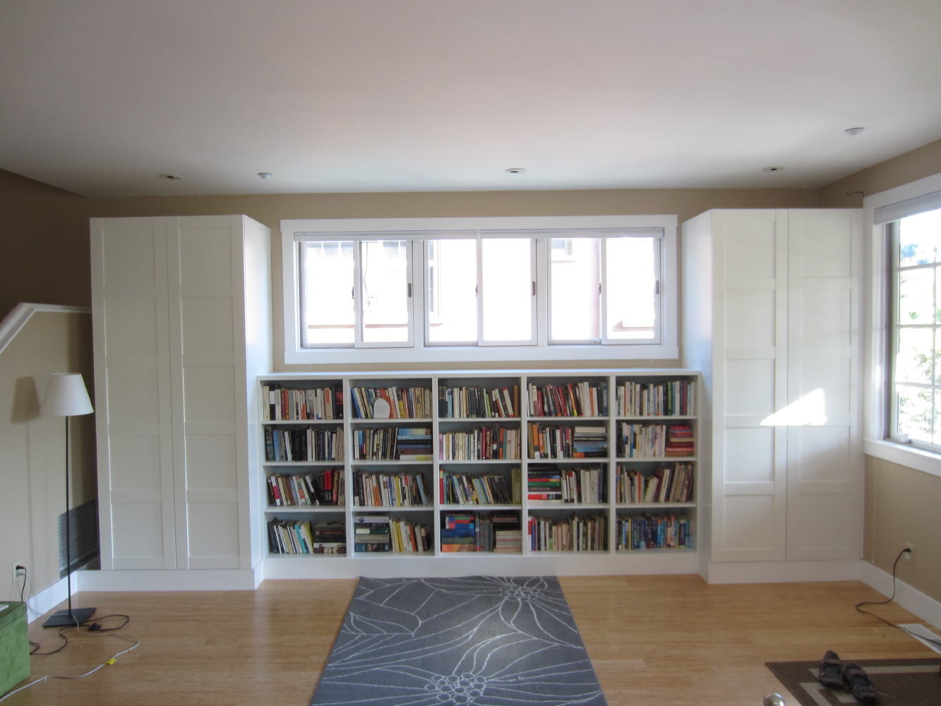 living room built in bookshelves and closets using besta. Black Bedroom Furniture Sets. Home Design Ideas