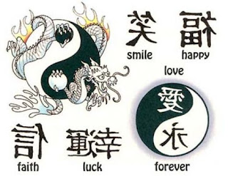 chinese symbols, tattooing