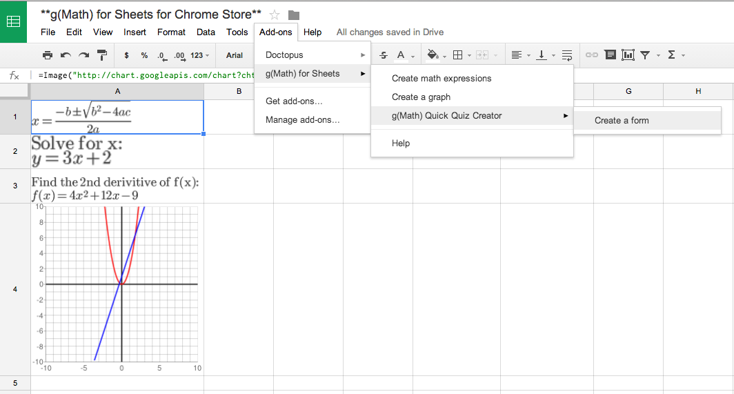 Math Tech Tips: g(Math) for Sheets is now live in the Chrome Store ...