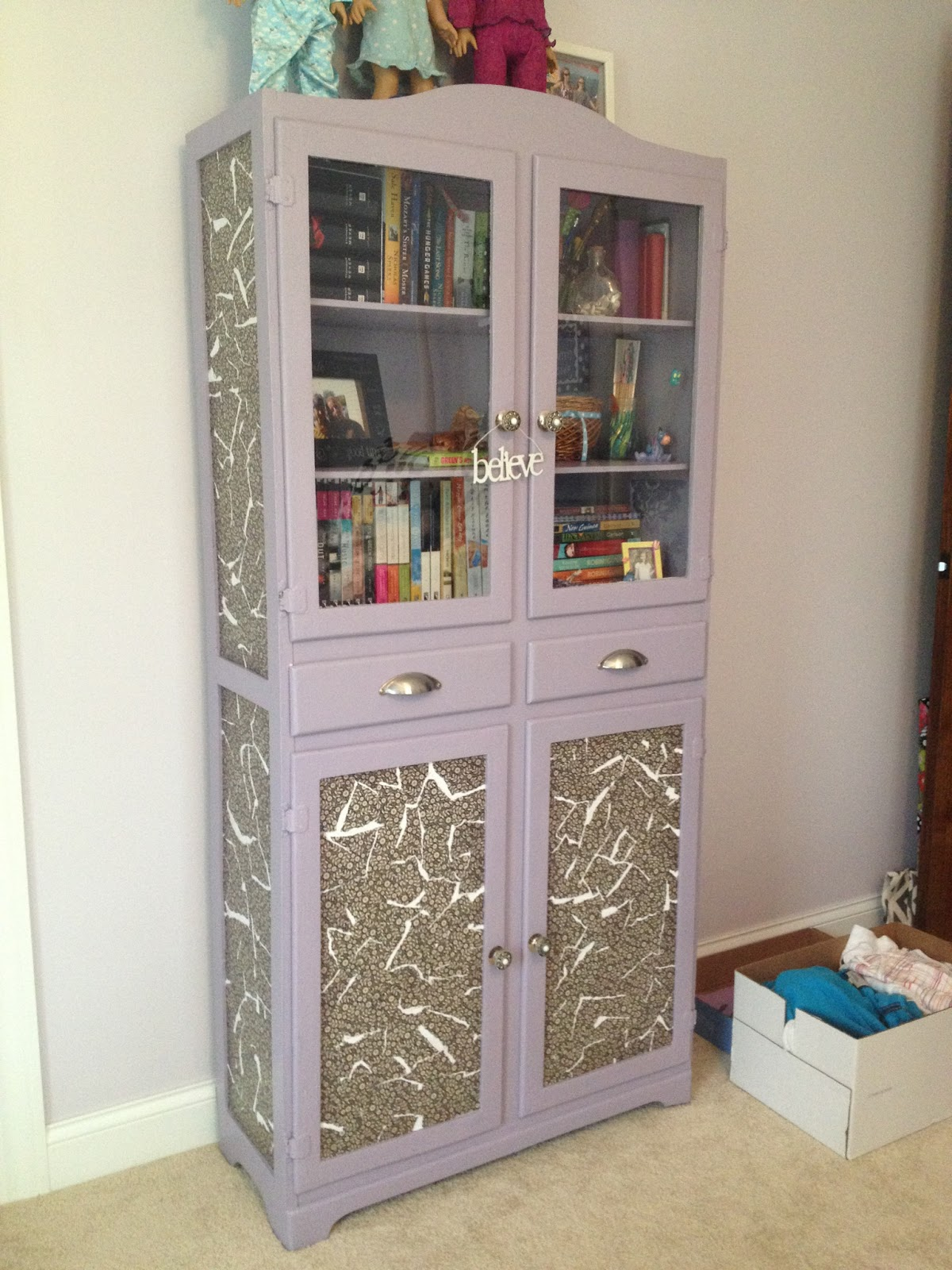 Let Her Create! Decoupage Cabinet