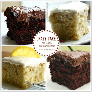 Crazy/Wacky Cakes {No eggs, milk, butter}  Lots of Flavors!  #1 recipes