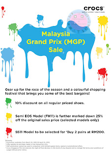 CROCS Malaysia Grand Prix Sale END 15 APR 2012