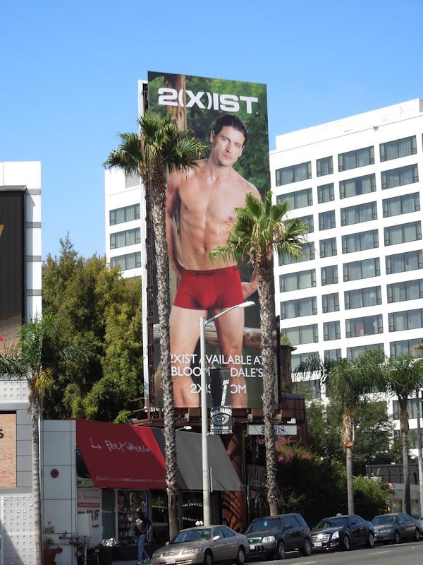 2xist male underwear model billboard