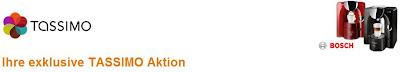Tassimo-Aktion bei Amazon: Bosch TAS2001 Tassimo + 2er-Pack Latte Macchiato + WMF-Tassimo-Gläser-Set
