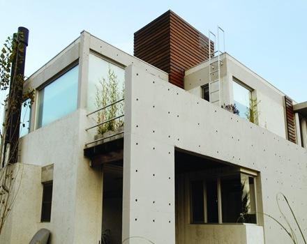 la casa amd con fachadas en hormig n hormi losa
