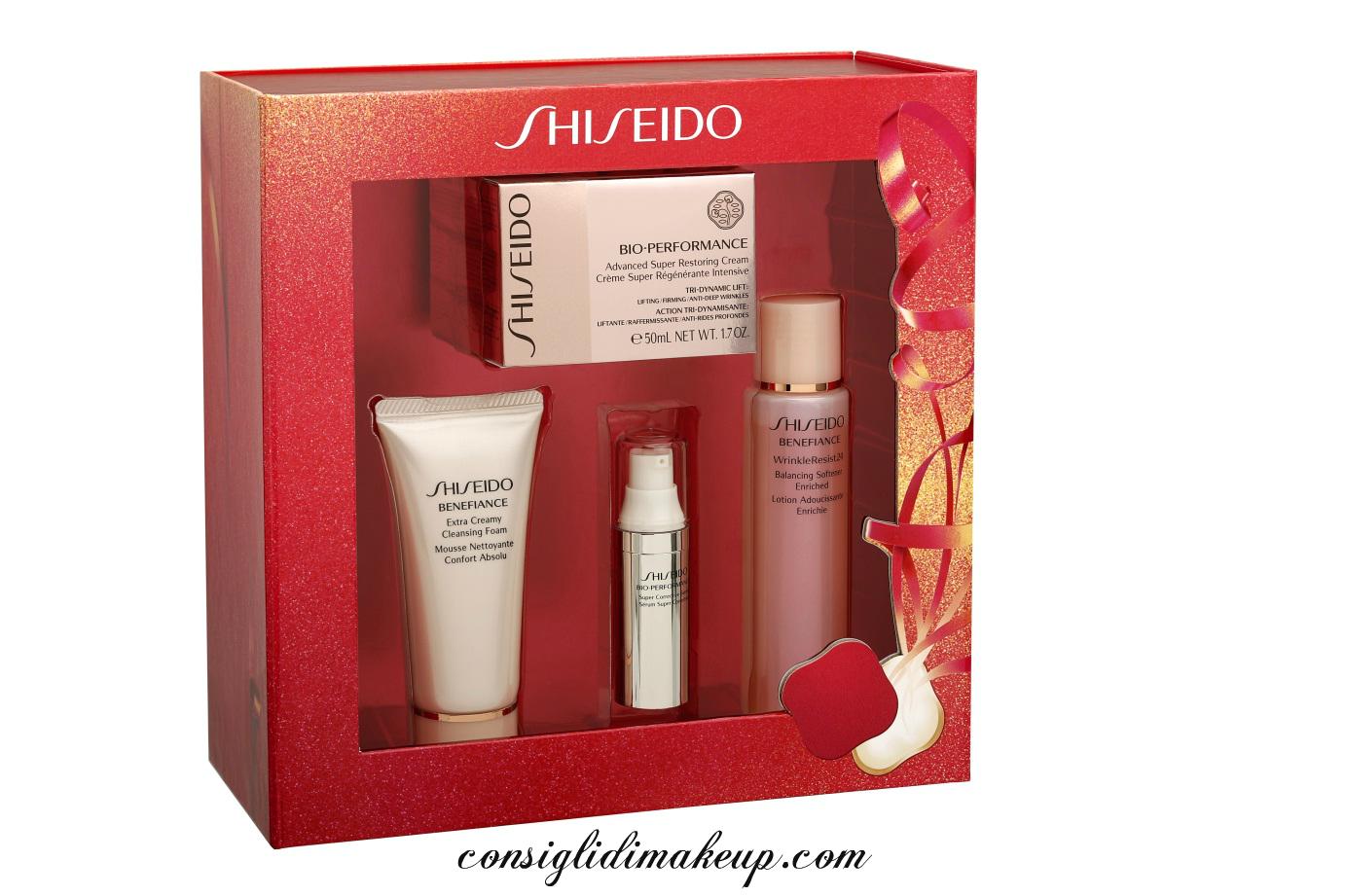 cofanetti shiseido natale