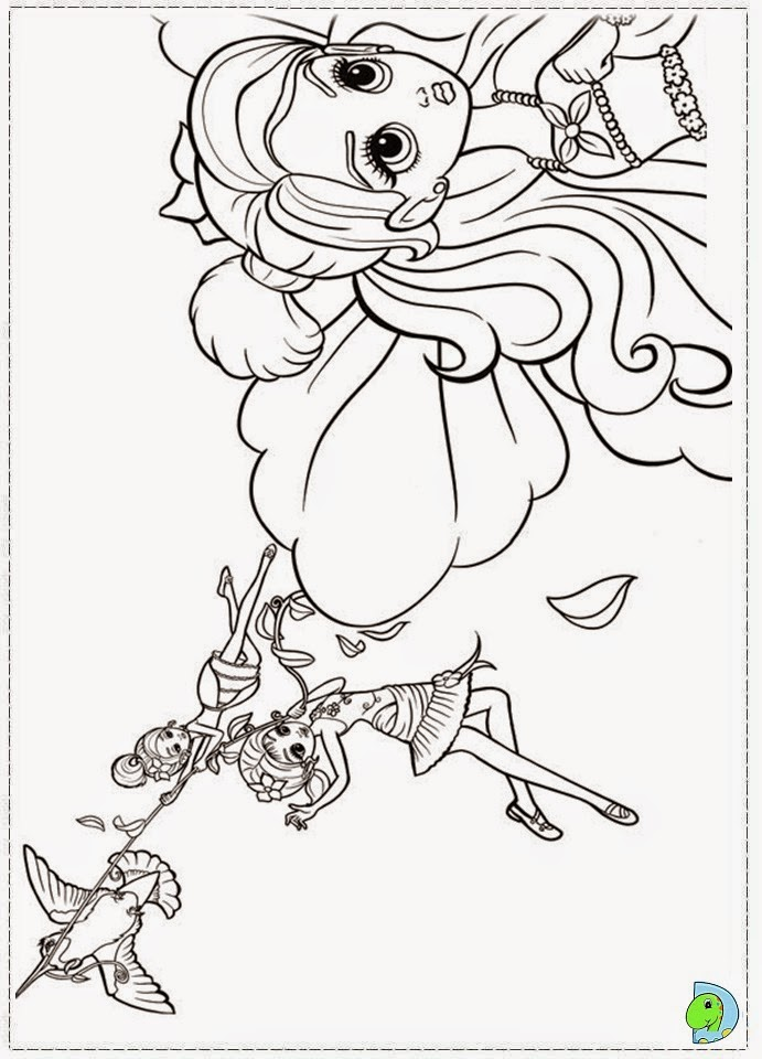 Free barbie thumbelina coloring pages