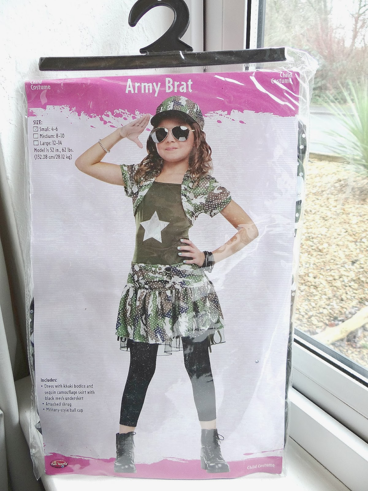 Children costume, Army girl costume, girl camouflage costume