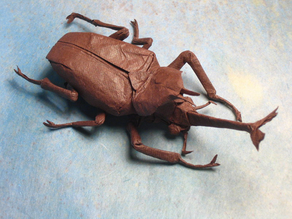 Realistic Origami Insects Made From One Sheet Of Uncut Paper La Oddee