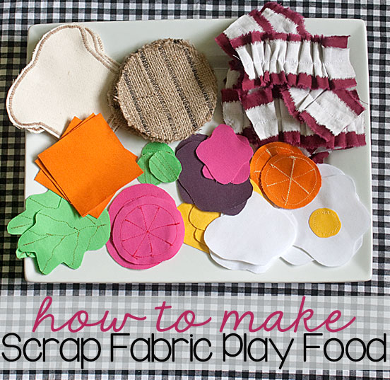 how to make scrap fabric play food