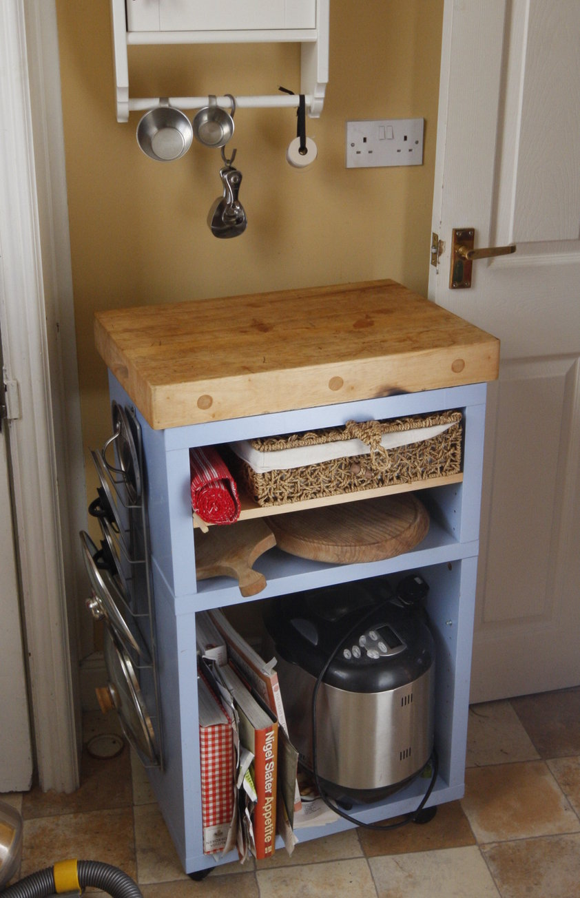 Small Kitchen With Island Shelves For Small Kitchens Small Blue Wooden Kitchen Island With