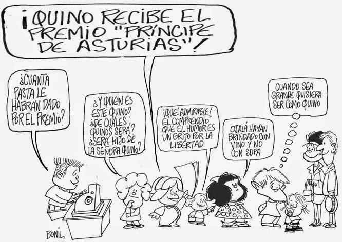 Caricatura periodística de BONIL