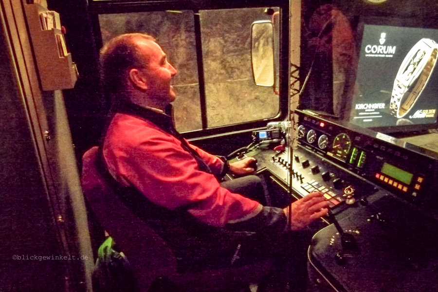 Fahrer einer Jungfraubahn