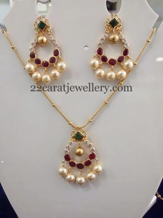 Necklace With Earrings Only 11 Grams Jewellery Designs